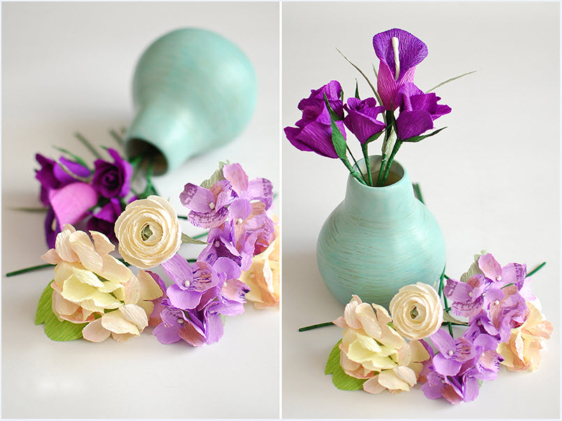 Изготовление искусственных цветов из гофрированной бумаги