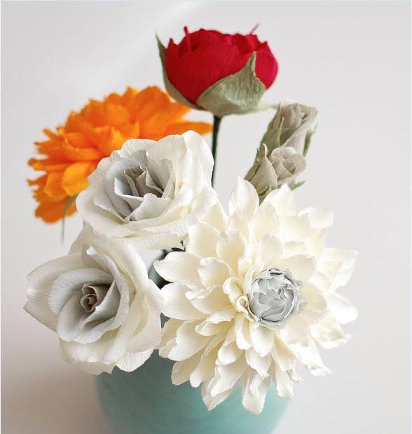 Прекрасные цветы своими руками 116