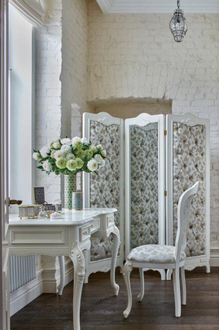 цветочный стиль на белом фоне