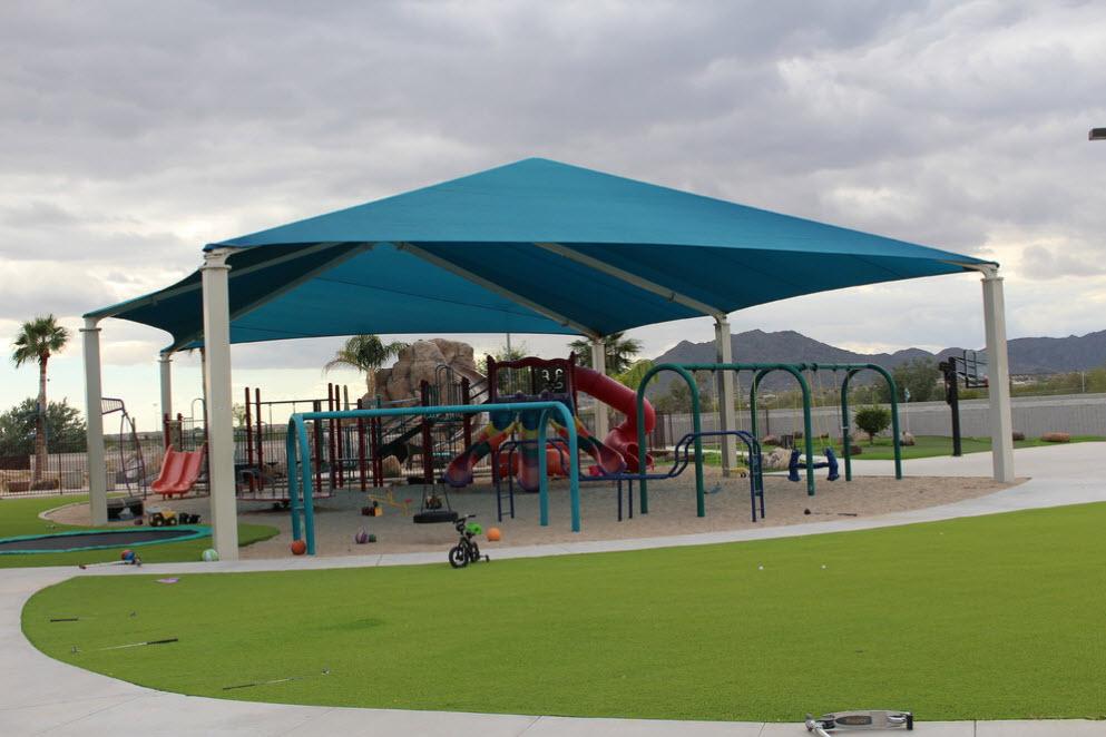 шатровой навес над детской площадкой