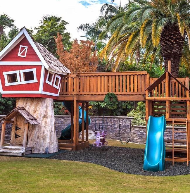 Игровой домик на дереве для детей своими руками 375
