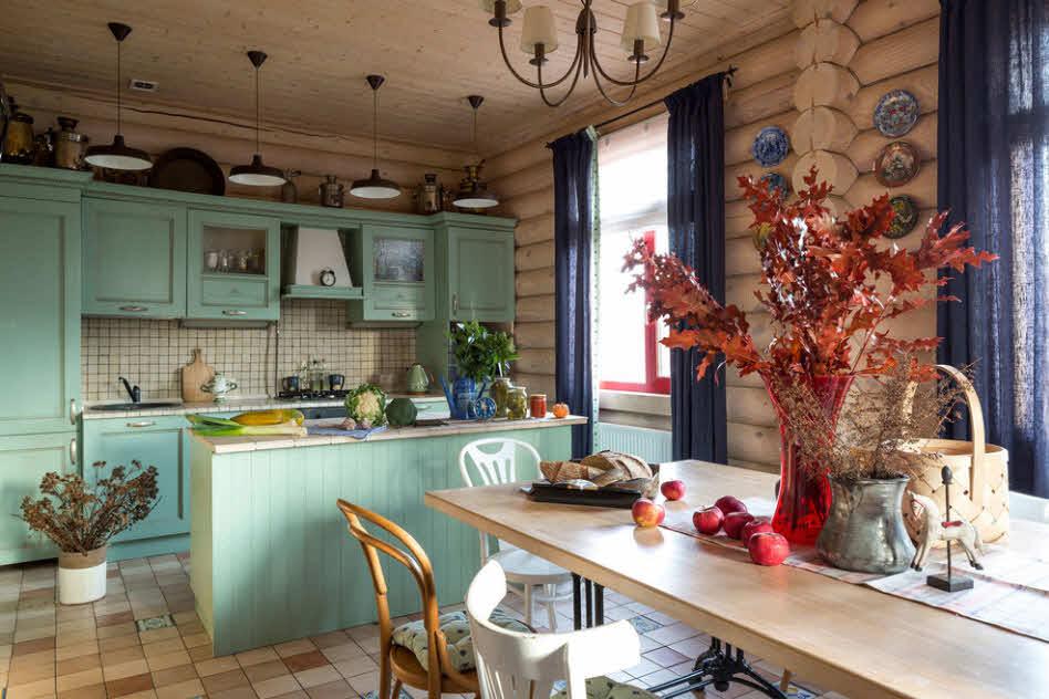 идея кухни на даче