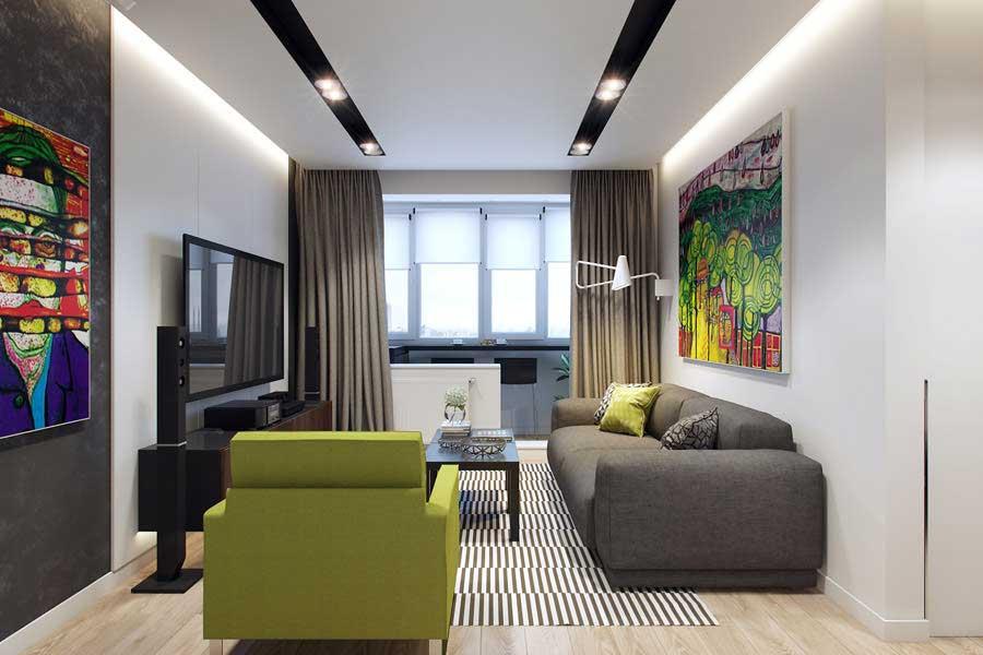 100 лучших идей дизайна: интерьер гостиной 18 кв
