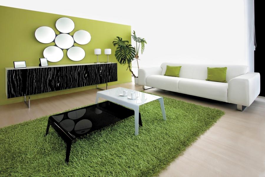 бело-зеленая в натуральном стиле