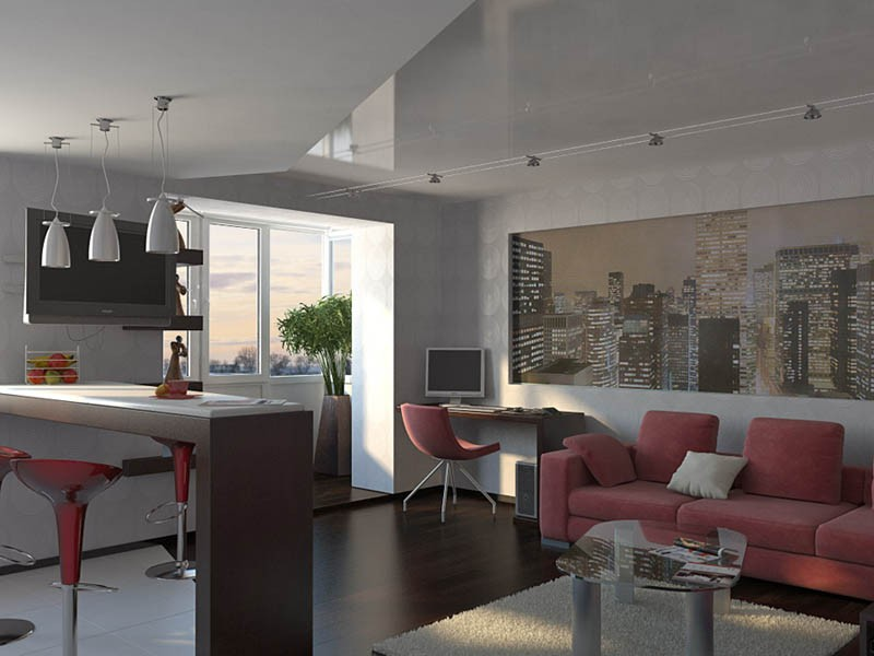 благородный серый цвет с добавлением розовых оттенков мебели
