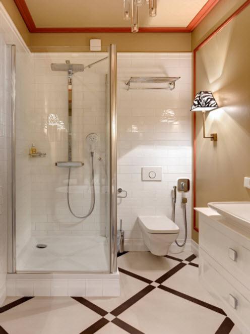ванная в пастельных тонах
