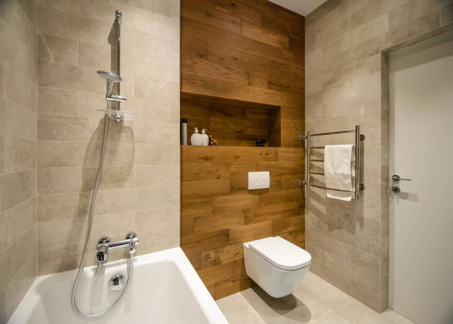 ванная с подвесным унитазом