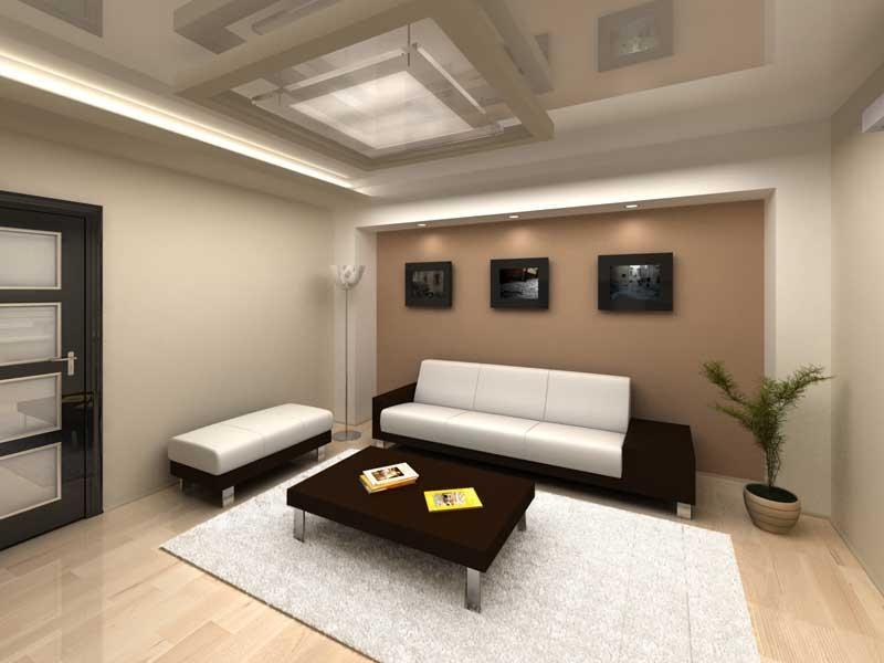 ворсистый ковер и картины на стенах выгодно смотрятся в любой комнате