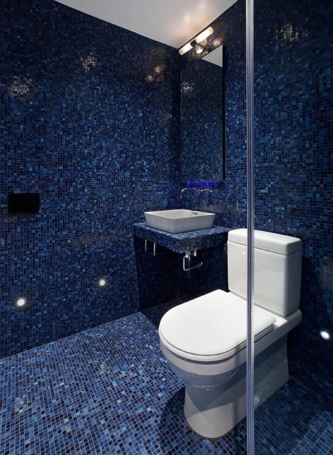 все оттенки синего в плитке для туалета