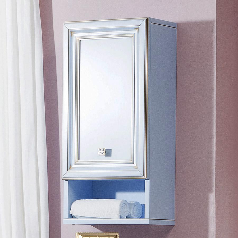 голубой навесной шкаф