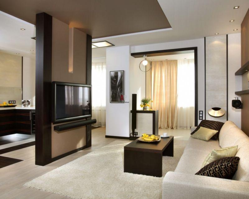 гостиная в квартире студии