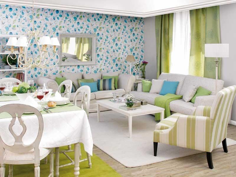 гостиная совмещенная со столовой