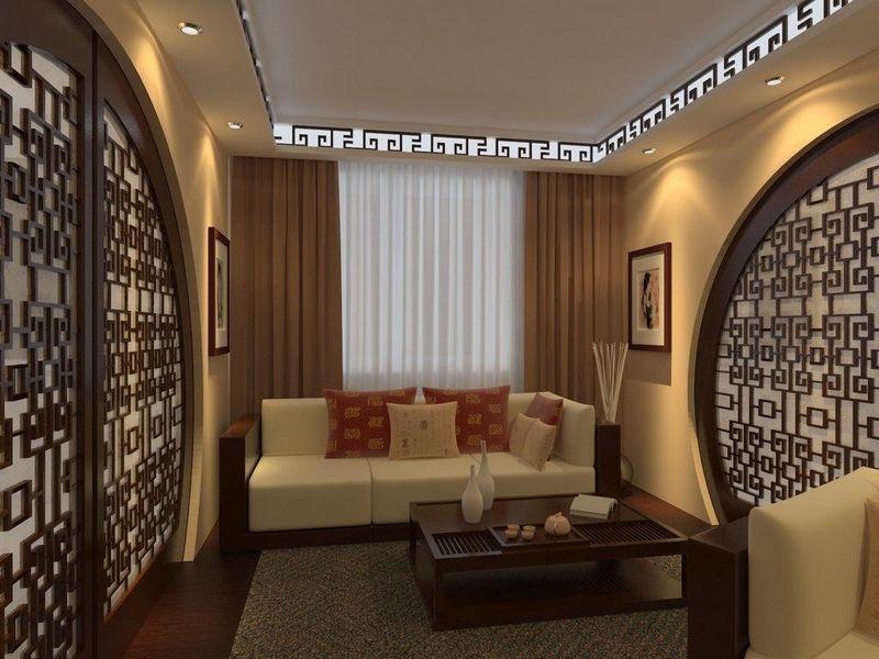 декор гостиной в виде арки