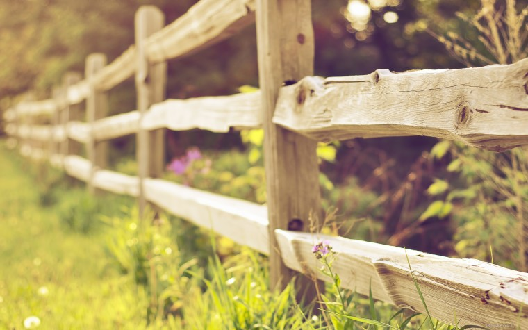 деревянная оградка