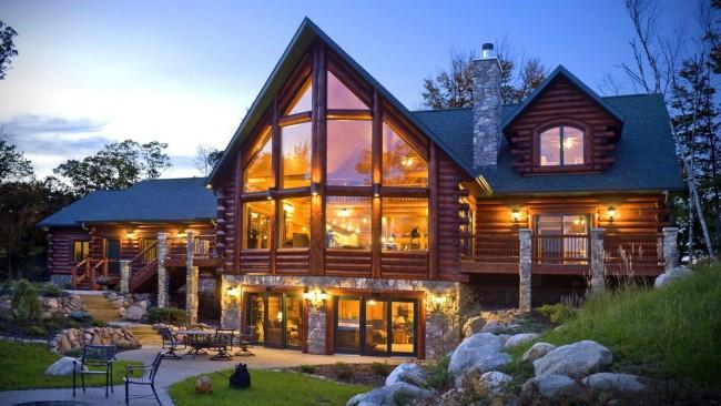 дом из бруса без фундамента