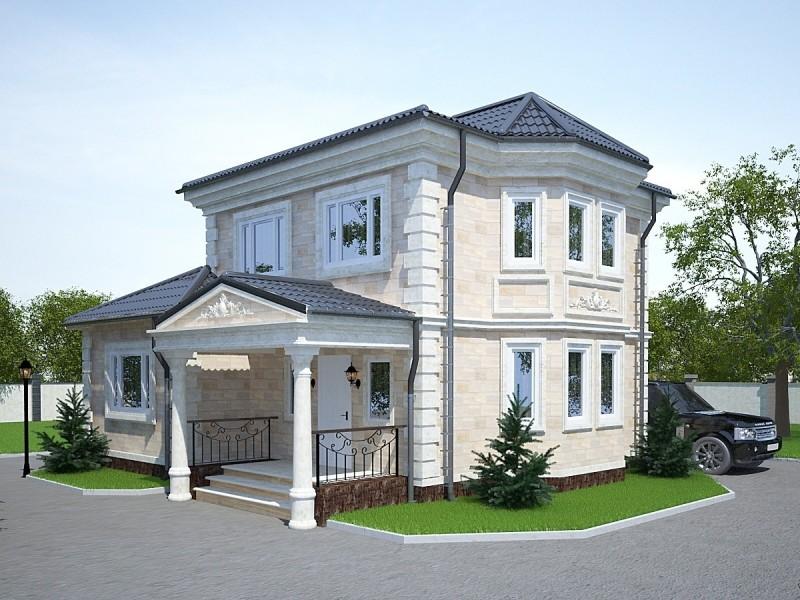 дом с оригинальным фасадом