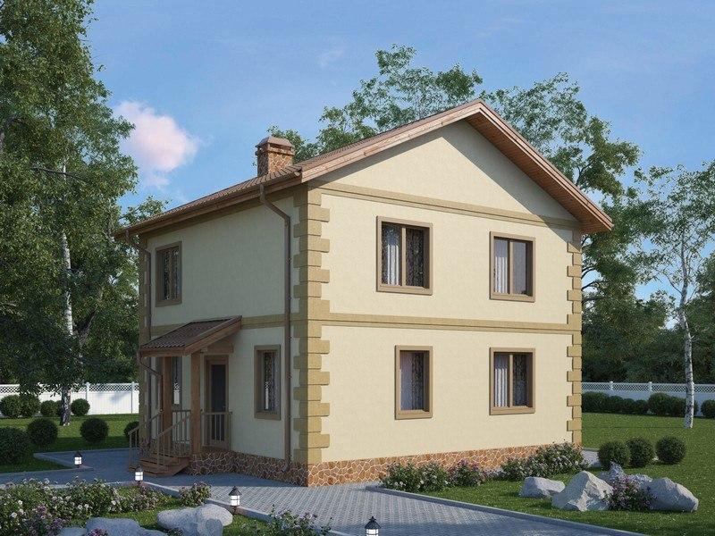 дом с отделкой по углам