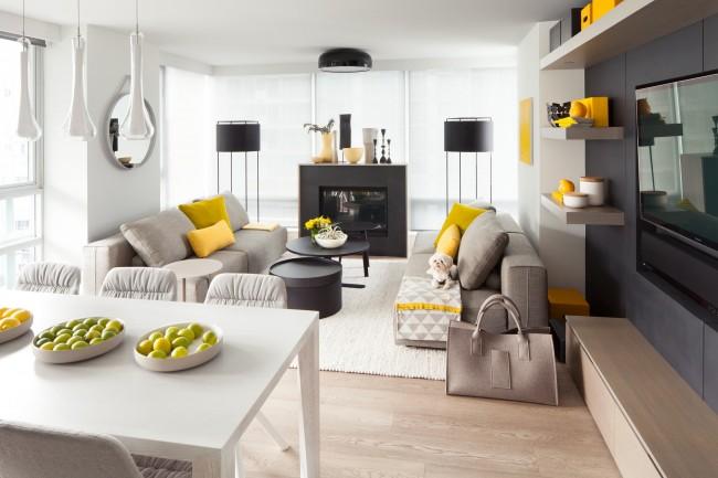желто-серый модерн