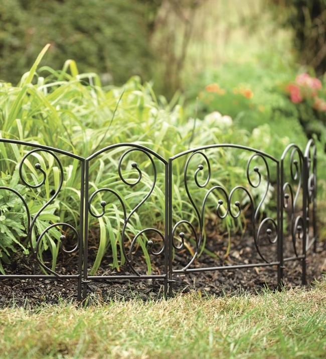 кованный зеленый забор