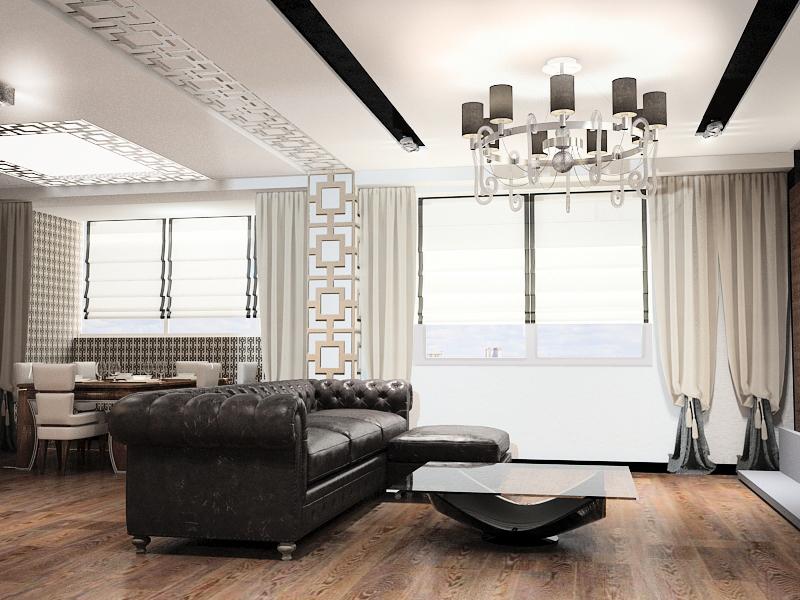мебель из кожи легко вписывается в интерьер современной квартиры