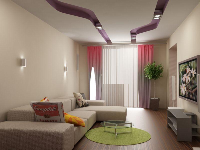 много света в гостиной комнате