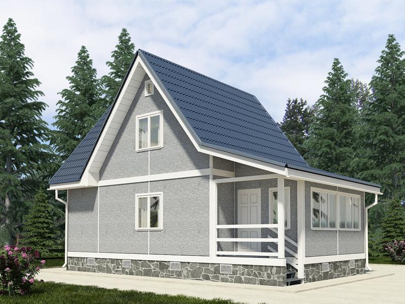 небольшой загородный домик