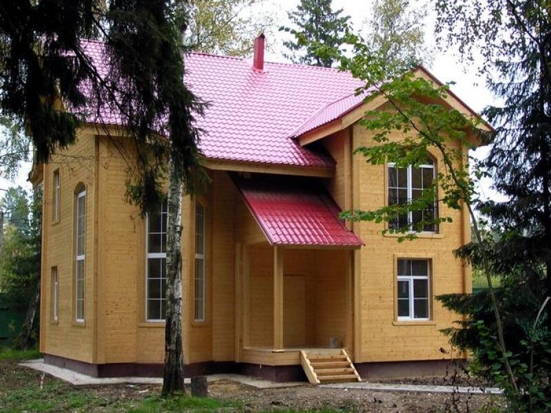 оригинальная идея для двухэтажного дома