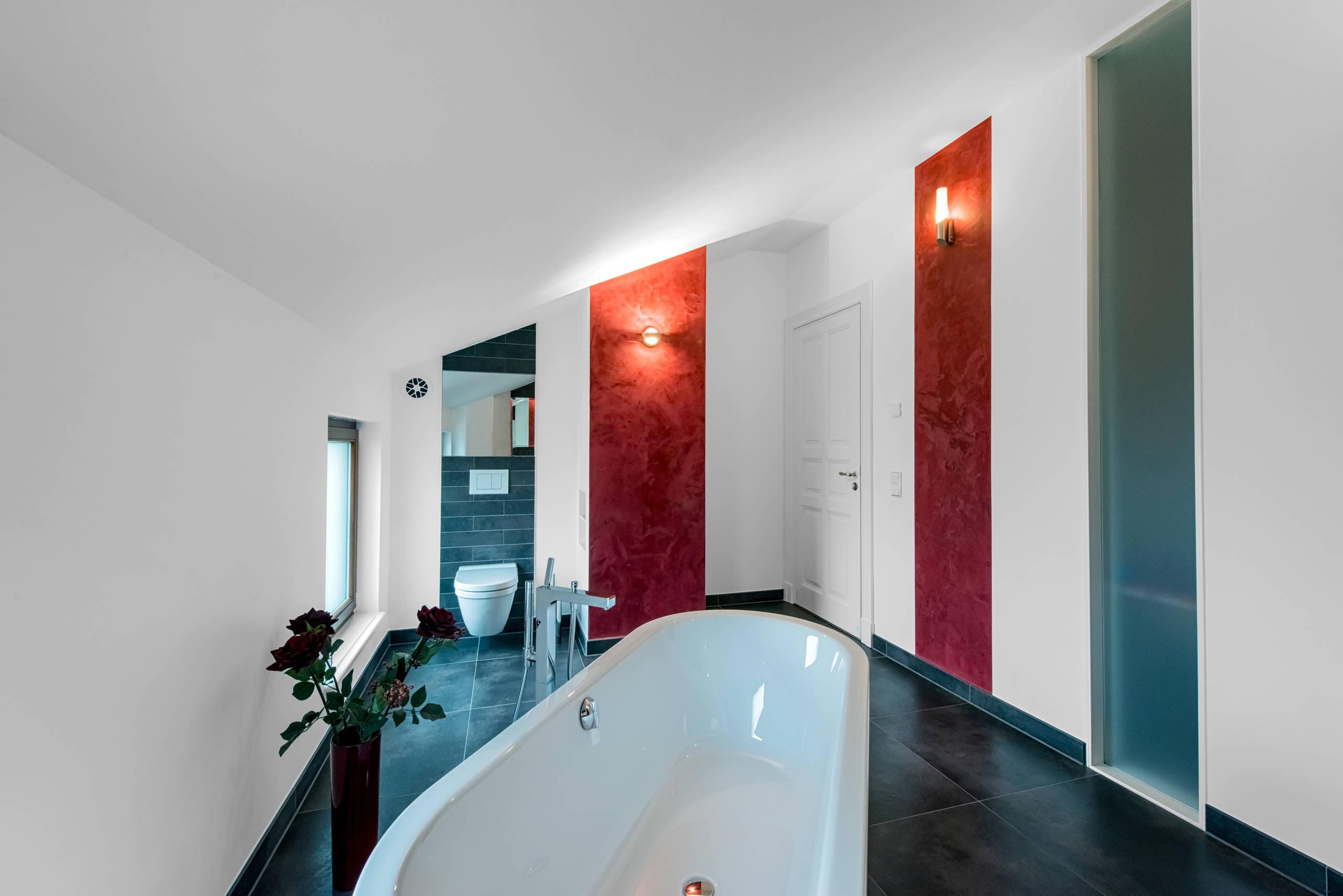 оригинальное оформление ванной комнаты