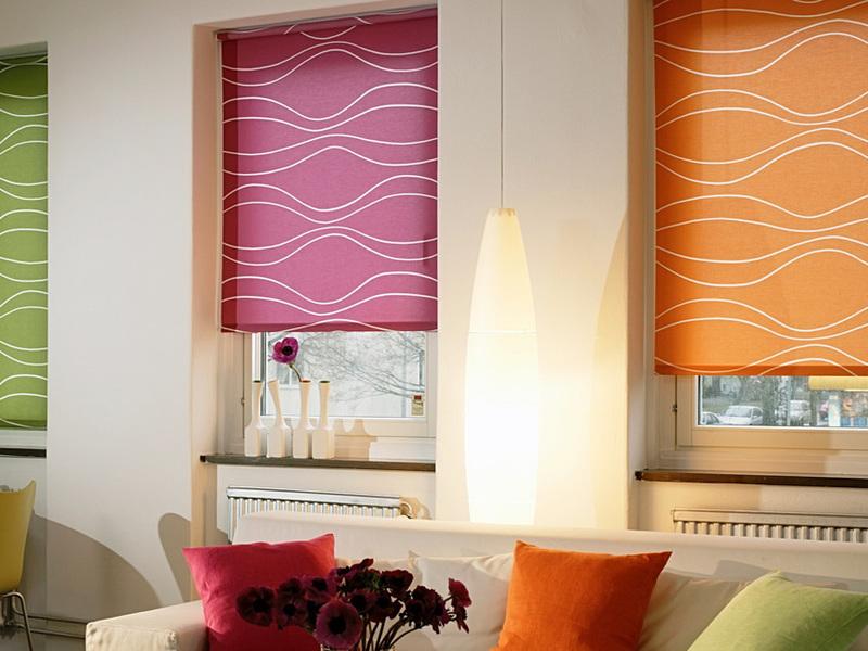 руллоные шторы как яркий акцент декора