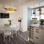 Кухня, объединенная с балконом: идеи и тонкости перепланировки