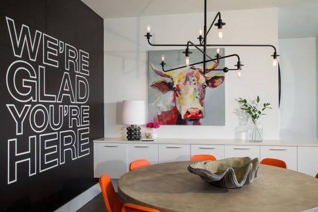 современная живопись в городской квартире