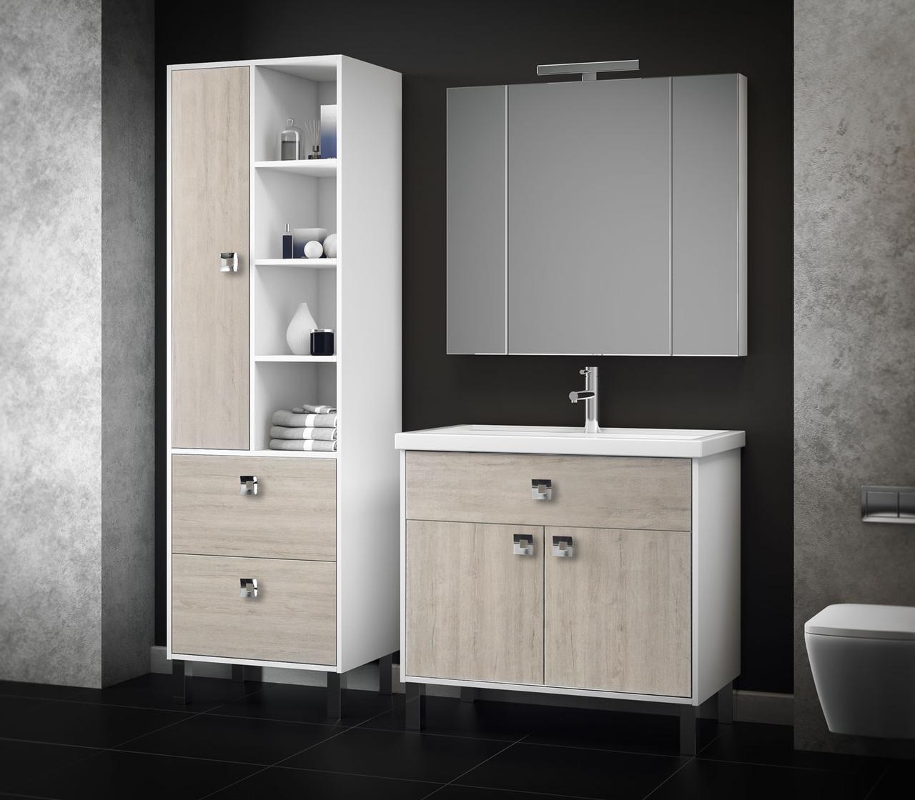 стильные шкафчики в ванной