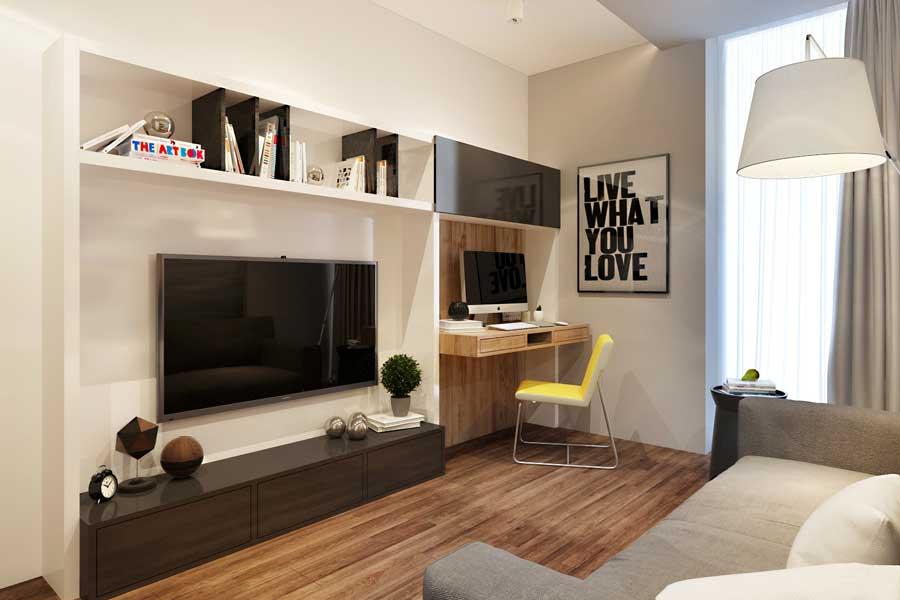 уютная гостиная 18 квадратов