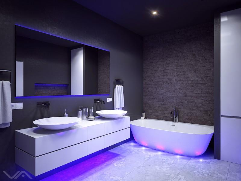 черная с фиолетовой подсветкой
