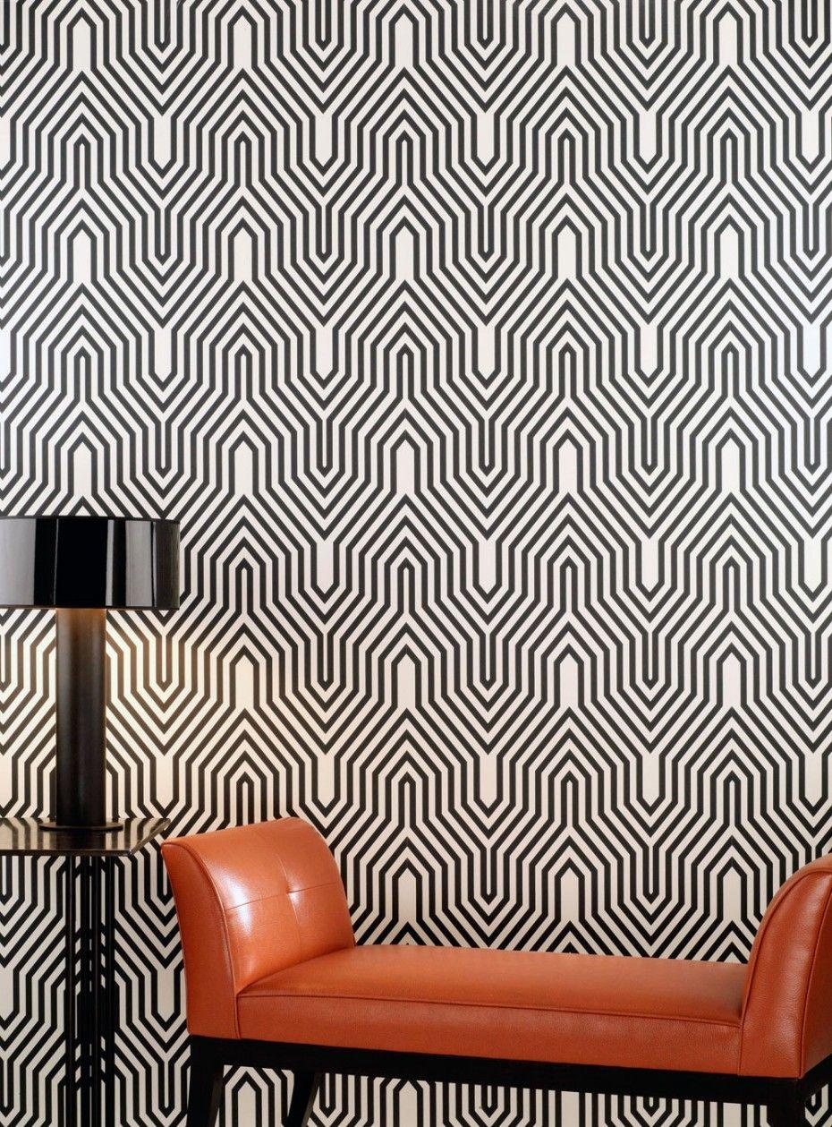 черно-белая графика стен