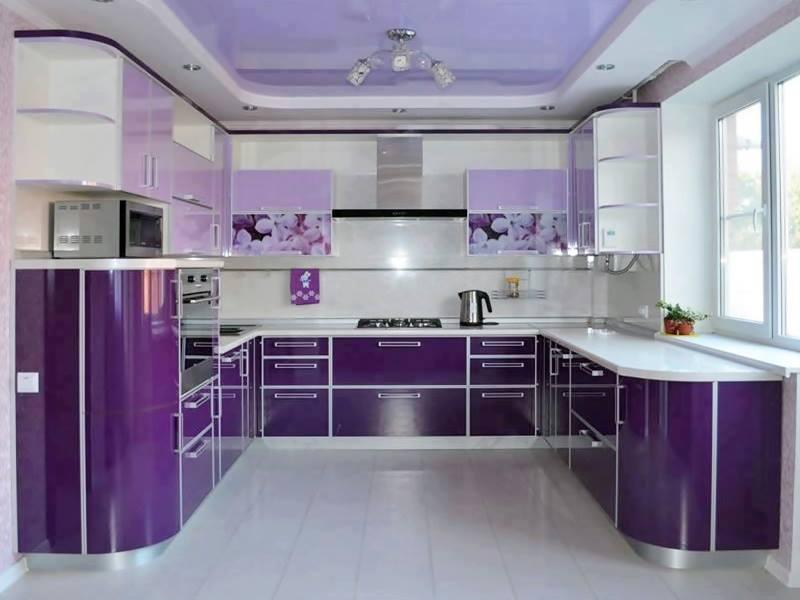 шикарная фиолетовая кухня