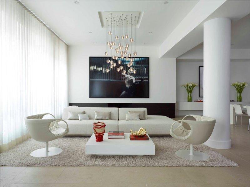 элегантная белая гостиная