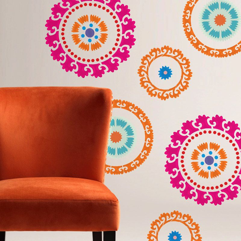 Трафареты для дизайна стен своими руками 40