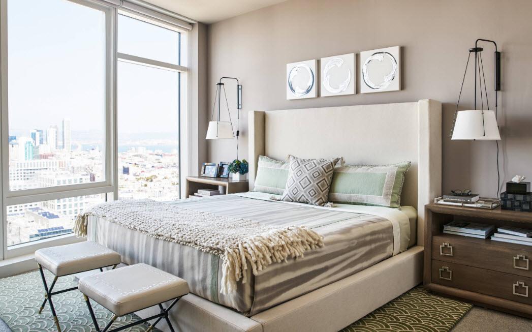 Комфортная небольшая спальня