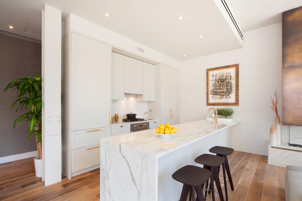 Светлый дизайн для кухни