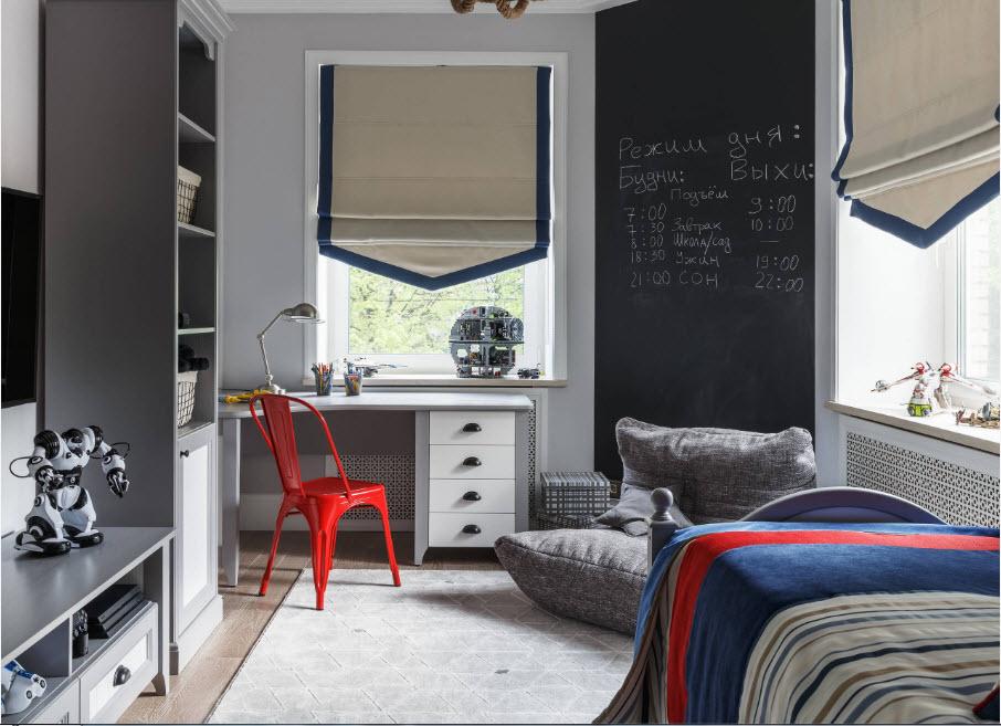 Лаконичный интерьер комнаты мальчика