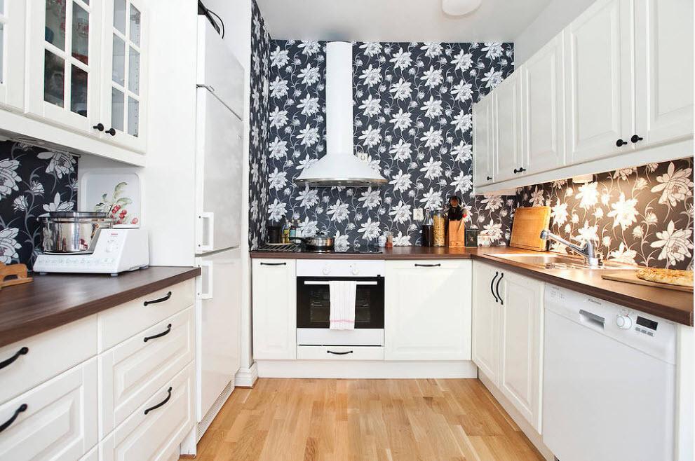 Обои для маленькой кухни
