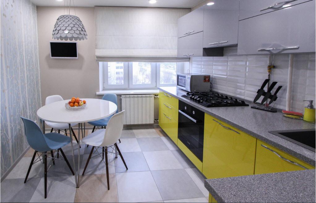 Дизайн небольшого кухонного помещения