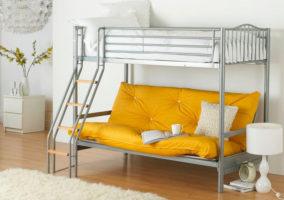 оригинальная двухъярусная кровать с диваном