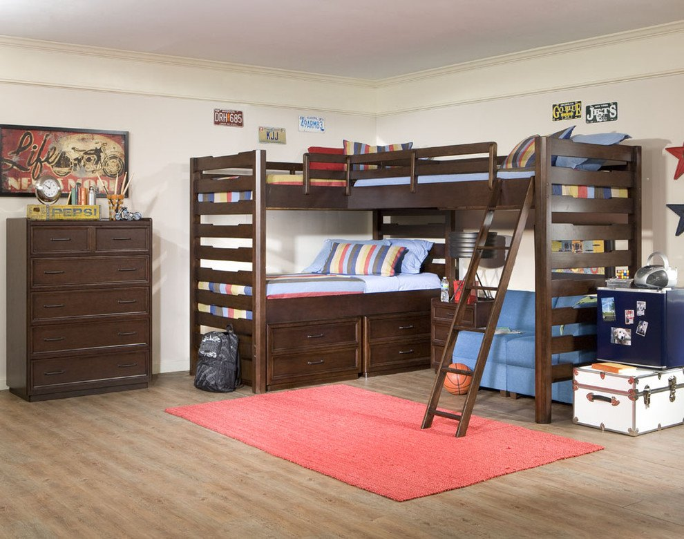 dazzling-triple-bunk-beds-in-traditional-boy-brown-dorm-girl-ladder-modern-sofa-storage-teen-tween-with-bunk-bed-with-couch-next-to-bunk-beds-with-desk-alongside-boys-rooms-andcorner-bunk