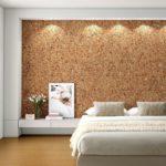 Отделка стен пробковыми обоями: нюансы использования натурального материала