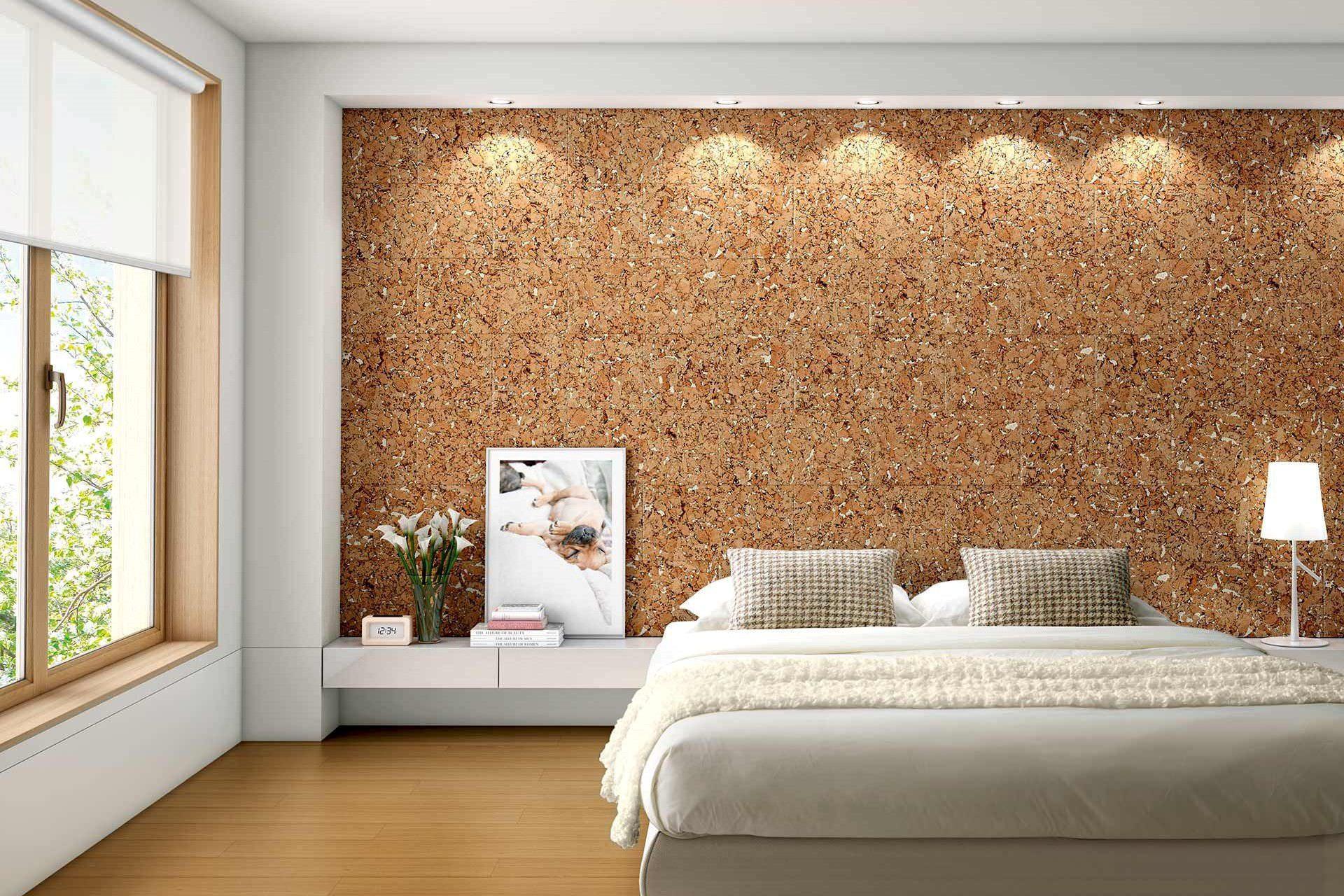 cork-wall-bedroom