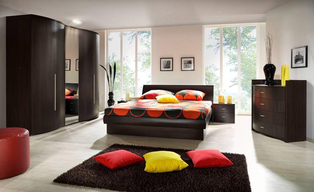 белая спальня в сочетании с цветом венге