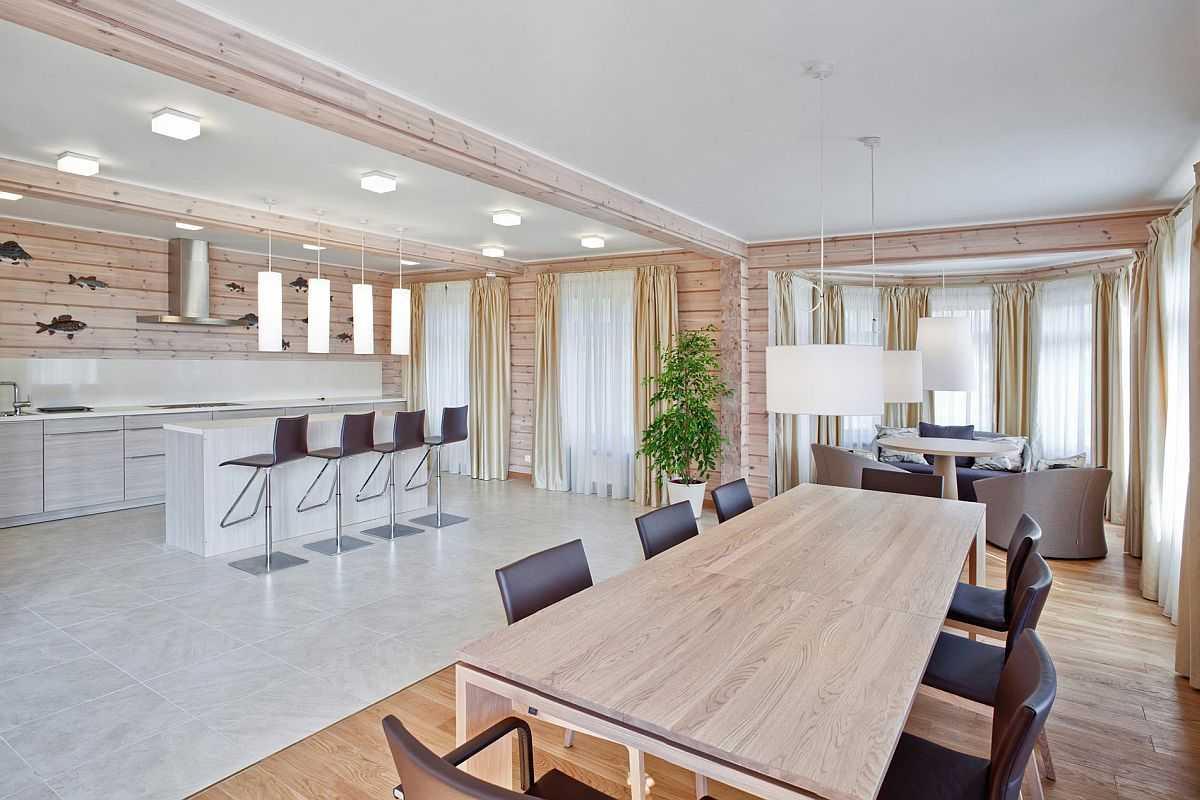 белоснежный деревянный дом