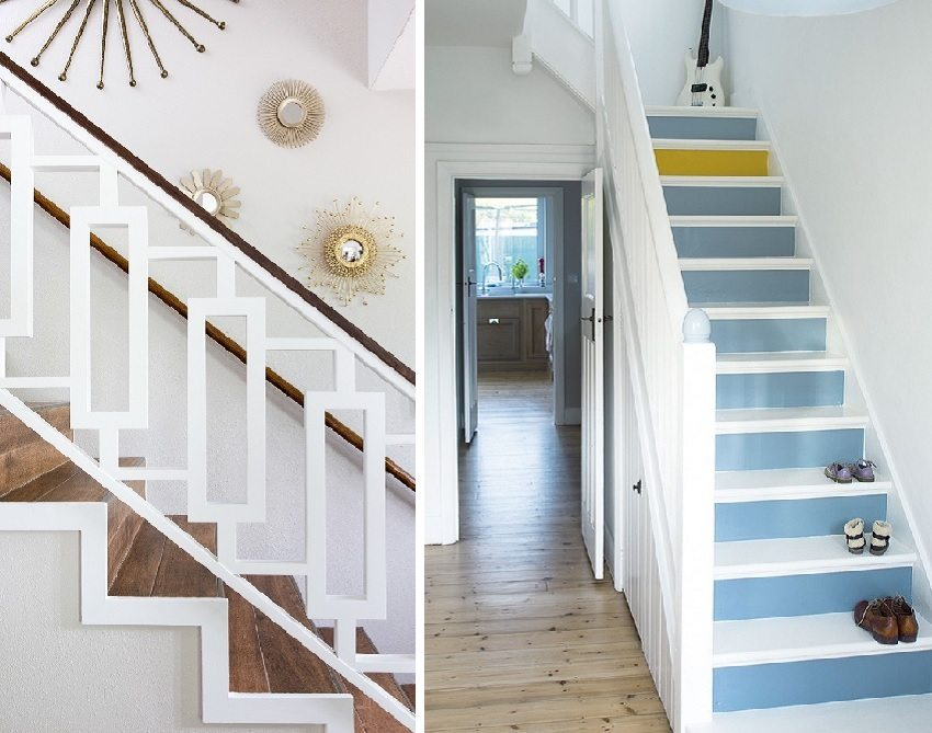 две маршевые лестницы